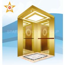 Mejor elevador de pasajeros de acero inoxidable de oro