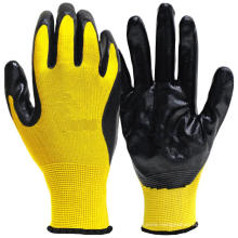 Oil Proof Winter Anti-cold Working Glove Nitrile Palm for Auto Repair Industry