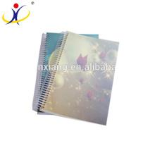 Cubierta de la decoración del cuaderno de papel reciclado ECO impreso A5 Tamaño Libro de ejercicios Papel de impresión personalizado