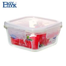 produtos de uso doméstico de alimentos resistentes ao calor de microondas recipiente de vidro