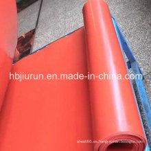 Estera del rodillo de la hoja de goma del negro SBR del rojo