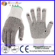 color both sides pvc dotted gloves