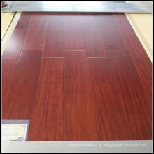Chão de madeira sólido de alta qualidade Sapele