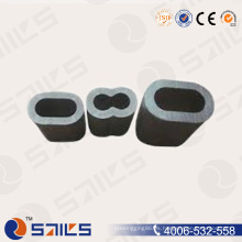 Virola de cable oval de aluminio de la manga de la cuerda de alambre de DIN3093