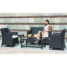 Durable 5 pedaços de conjunto de sofá de vime ao ar livre (OT20)