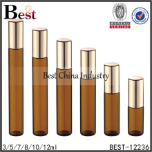 1ml 2ml 5ml amber glass roll on bottle