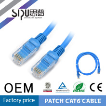 SIPU 0.5m,1m,2m,3m,5m best price UTP FTP Patch cord, 7*0.18mm bare cooper cat6 patch cord price