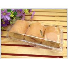 Venta al por mayor de plástico transparente PP / PET pan / pastel de caja (caja de embalaje de alimentos)