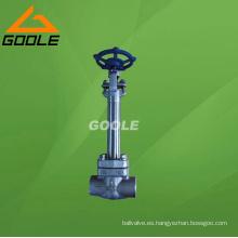 Válvula de compuerta de acero forjado anticongelante (GADZ61H)