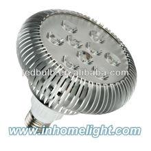 PAR38 lumières led en aluminium 9W