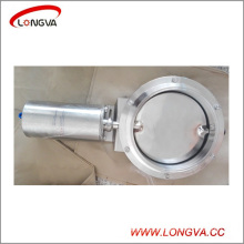 "10"" Sanitary Stainless Steel Pneumatic Tri Clamp Butterfly Valve"