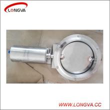 """10 """"válvula de borboleta pneumática de aço inoxidável sanitária da braçadeira da tri"""