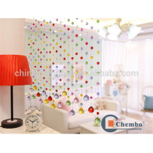 Cortina de cristal caliente de la cortina del divisor del sitio de la venta rebordeada cortina coloreada