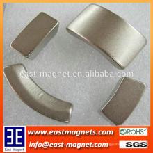 Poder forte Terra rara sinterizada Neodymium Segmento Arc Magnet for Motor