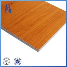 Revestimiento de pared de chapa de aluminio Panel de madera