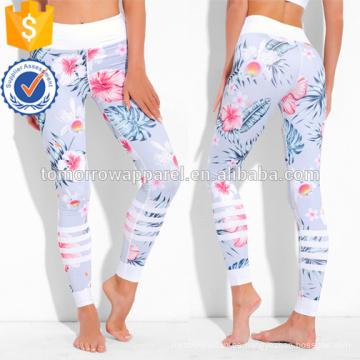Polainas de impresión botánica Muticolored OEM / ODM Fabricación de ropa de mujer de moda al por mayor (TA7031L)