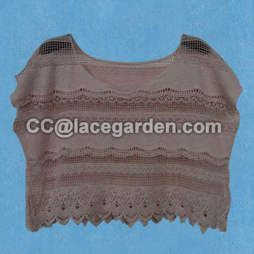 Beatiful Pink Color Lace Blouson