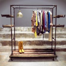 DIY metal pipe clothes rack