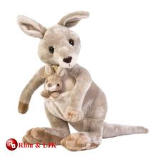 Juguete encantador promocional de encargo de la felpa del canguro del bebé