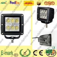 Lampe de travail à LED 18W, Lampe de travail à LED 12V DC, Lampe de travail à LED de la série Creee pour camions