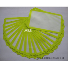 custom made food grade healthy safe silicone coated glass fiber fabric frying baking mat