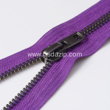 New Fashion Design for Jacket Zipper Replacement for Metal Leather 9 Inch Raccagni Zipper export to Indonesia Factory