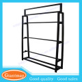Professional design custom removable double sides 16 rolls fabric display rack for cloth art market