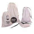 Kundengebundene weiße Baumwollverpackungs-Taschen für Schmucksachen
