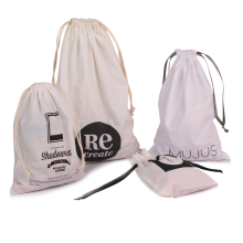 Customized White Cotton Packaging Bags for jewellery