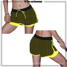 Poliamida Nylon Mulher High-End Qualidade Yoga Calças Shorts