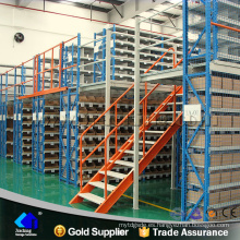 Estante de plataforma de paleta de almacén de metal estable de alta calidad con soporte de entresuelo de acero