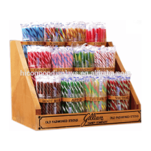Fabricante Suministro Supermercado Venta al por menor Mostrador de madera de 12 jarras Stick Candy Display Unit