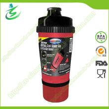 Bouteille Shaker gratuite de 700 ml avec stockage, agitateur