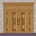 Steel four leaf door for house entrance
