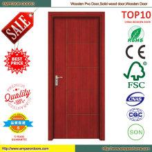 Diseño de puerta de madera de teca caoba venta caliente