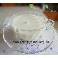 2016 Hot Selling Elegant Transparent Glass Jar Candle Scented