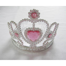 Big Heart PP Pink Crown Tiara