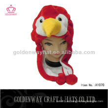 Sombrero rojo del invierno de los pájaros nuevo diseño