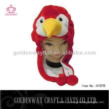Красная птица Зимняя шляпа Новый дизайн