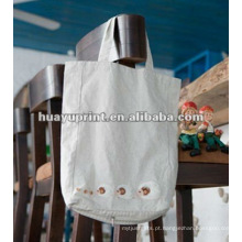 Saco de algodão promocional & saco de compras de algodão e saco de drawstring algodão