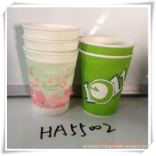 Corrugated Cup Paper Cup Disposable Cup for Promotional Gift (HA55002)
