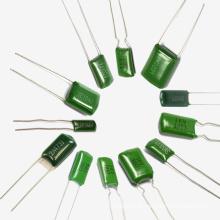 Capacitores de película de poliéster verde de Topmay de la fábrica al por mayor Tmcf01 Cl11