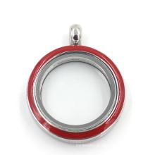 Várias cores 316L de aço inoxidável jóias de vidro flutuante Moda Locket