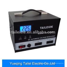 Estabilizador de tensión SVC-1500 con interruptor giratorio, indicador LCD