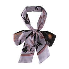 Square silk like hair scarf