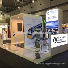 Detian ofrece stand de stand de exposición de material de madera con soporte de retroiluminación para el show de Australia