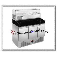 R316 3 portes station de préparation de pizza de refroidissement statique
