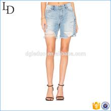 Desgaste de cintura alta mulheres shorts denim legal hot shorts jeans