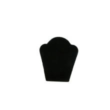 Gravé Noir Flock Collier Présentoir En Gros (NS-BFN1)