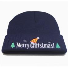 Noël Noël Unisexe Tricoté Hiver Chaud Broderie Chapeau Bonnet (HW145)